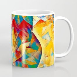 3334s-SRC Abstract Woman with Blue Eyes Rendered in Color and Style Coffee Mug