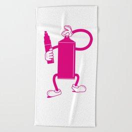 Mr Spray Can Beach Towel