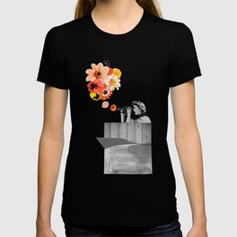 in bloom (black & white) T-shirt