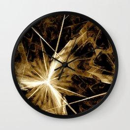 Star Burst Sepia-Toned Wall Clock