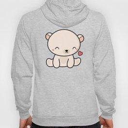 Kawaii Cute Polar Bear With Heart Hoody