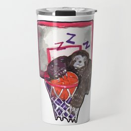 sloth playing basket Travel Mug