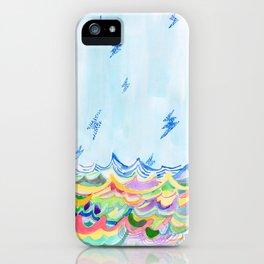 Lightning at Sea iPhone Case