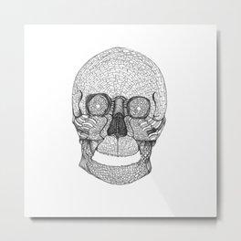Mosaic Skull Metal Print