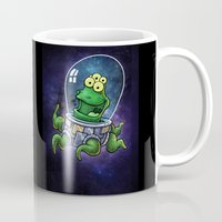 the neighbourhood Mugs featuring Friendly Neighbourhood Alien by Billy Allison