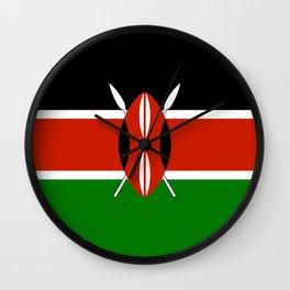 Kenyan Flag - Flag of Kenya Wall Clock