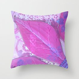 Original Flower Abstract Painting by Catherine Coyle  Throw Pillow
