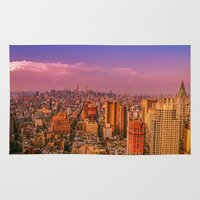 nyc Area & Throw Rugs featuring NYC by Vivienne Gucwa