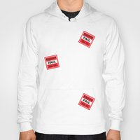 sticker Hoodies featuring Fail Sticker by DonMc