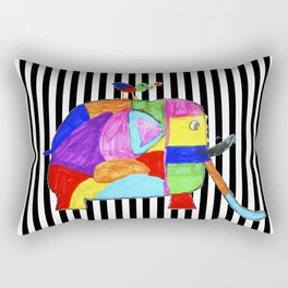 Rainbow Elephant by Elisavet | #society6 Rectangular Pillow