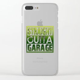 STRAIGHT OUTTA GARAGE Clear iPhone Case