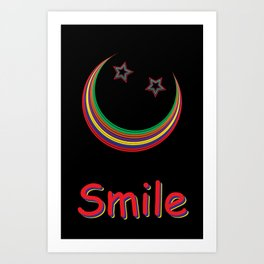 Smile and light up the night sky Art Print