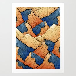 The Sea Peak Pattern Art Print