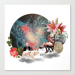 Tea Party in Another World Canvas Print