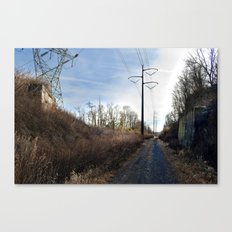 Abandoned Village Backroad Canvas Print