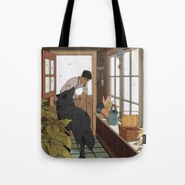 The Mudroom Wolf Tote Bag