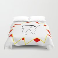 tooth Duvet Covers featuring Chipped Tooth by oozingsalt