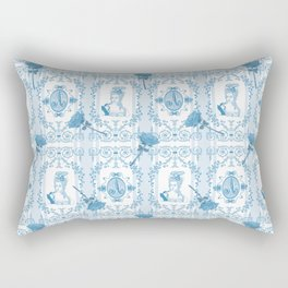 Marie-Antoinette Monogram (Aqua) Rectangular Pillow
