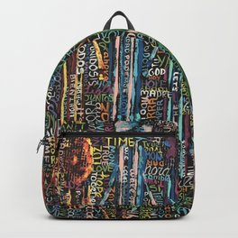 Awakening, people and words Backpack