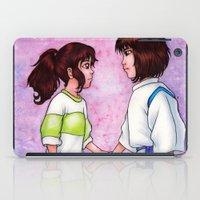 chihiro iPad Cases featuring Chihiro and Haku by Kimberly Castello