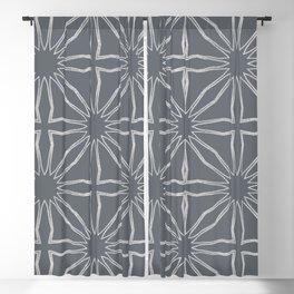 Silver Modern Moroccan criss cross Blackout Curtain