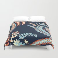 flora Duvet Covers featuring Flora by Tracie Andrews