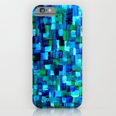 Abstract Tiles of Blue and Green Slim Case iPhone 6s