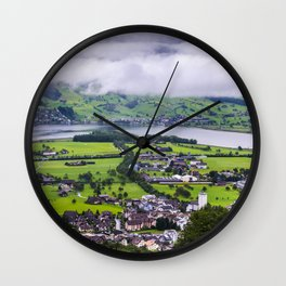 Lauerzersee During Storm - Schwyz Canton Wall Clock