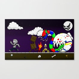 The Candy is Coming! Canvas Print