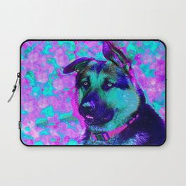 Artistic Dog Expression Laptop Sleeve