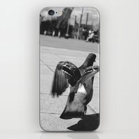 pigeon iPhone & iPod Skins featuring Pigeon by Mark Spence