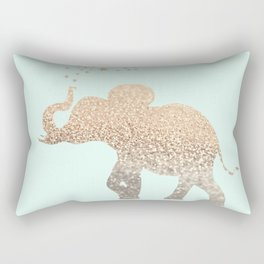 ELEPHANT - GOLD MINT Rectangular Pillow