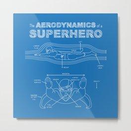 The Aerodynamics of a Superhero Metal Print
