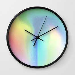 Holographic Pastel Wall Clock