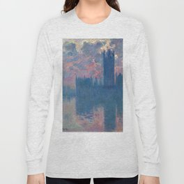 "Claude Monet ""The Houses of Parliament, at sunset"" Long Sleeve T-shirt"