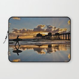 Surf City Sunsets 11/25/15  ~  Sunset at the Huntington Beach Pier Laptop Sleeve