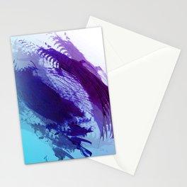 Grape and Deep Blue Smear Stationery Cards