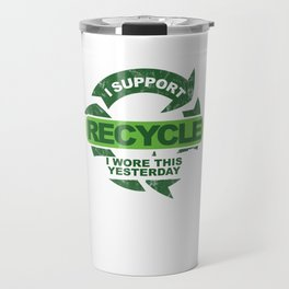 Recylce Support Recycling Travel Mug