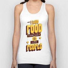I Love Food Unisex Tank Top