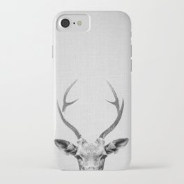 Deer - Black & White iPhone Case