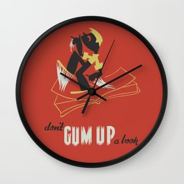 Don't Gum Up a Book Wall Clock