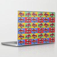 mini cooper Laptop & iPad Skins featuring mini cooper by Pedro Vale