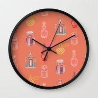 perfume Wall Clocks featuring Perfume by Pim-Pimlada Studio
