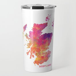 Scotland map #scotland #map Travel Mug