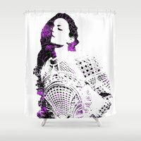 hair Shower Curtains featuring Hair by fashionistheonlycure