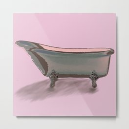 Bathtub Metal Print