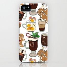 Holiday Drinks iPhone Case