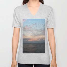 Early Morning Sunrise over Lake Huron Unisex V-Neck