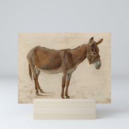 Donkey by Jacques-Laurent Agasse Mini Art Print