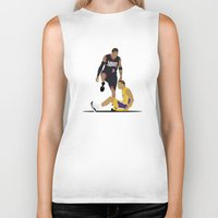 lakers Biker Tanks featuring Step Over Lue by Steven Paris